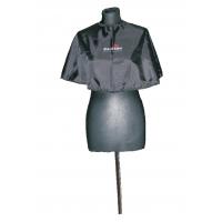 Pelerynka materiałowa krótka czarna z logo